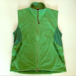 Patagonia green fitted fleece vest size large